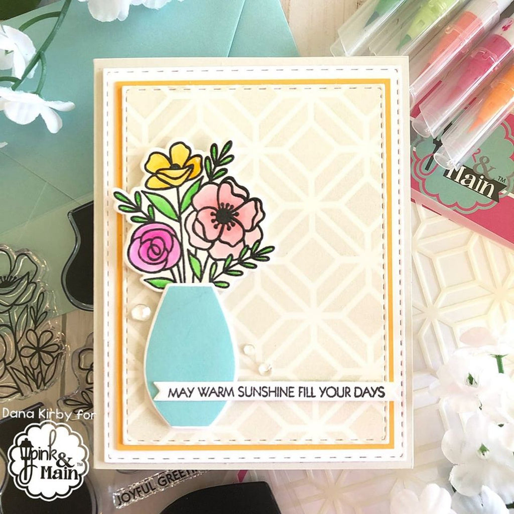 Gorgeous Vases Clear Stamps - Pink and Main