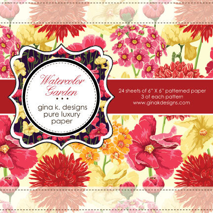 Watercolour Garden Patterned Paper - Gina K
