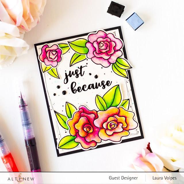 Wavy Roses Stamp and Die Bundle