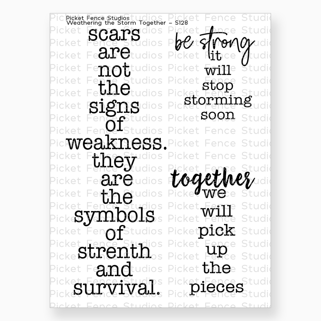 Weathering the Storm Together Stamp Set