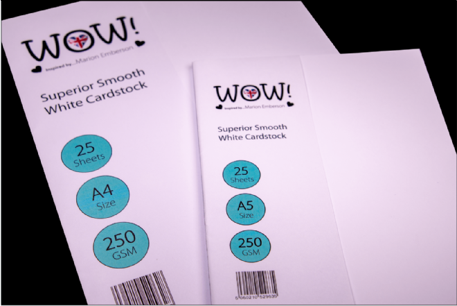 WOW! Superior Smooth White Cardstock - 25 sheets, A4