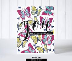 Brushed You - The Ton Clear Stamps