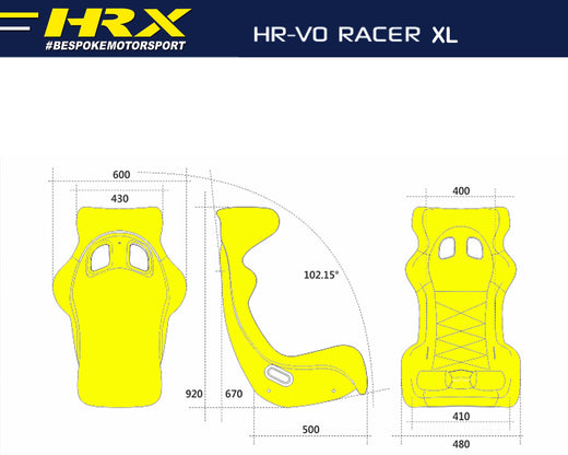 Racer racing seat - XL dimensions - HRX