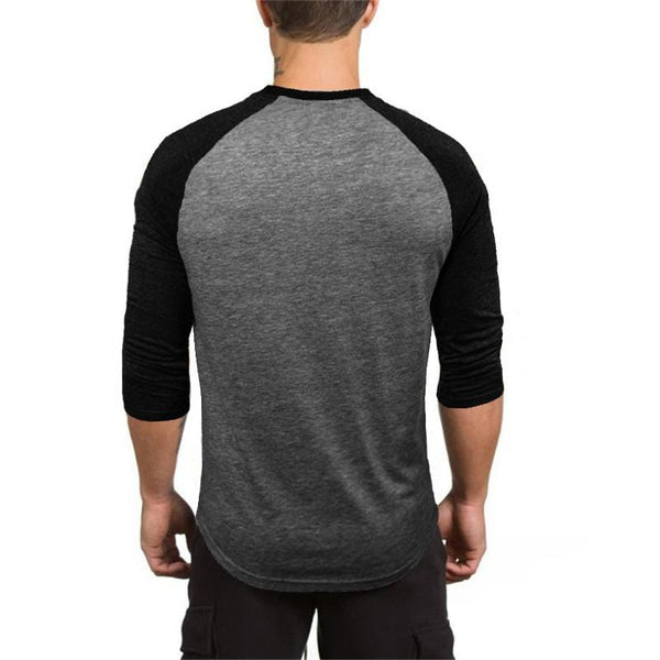 3/4 Sleeve Muscle Shirt - GYMKNOCK