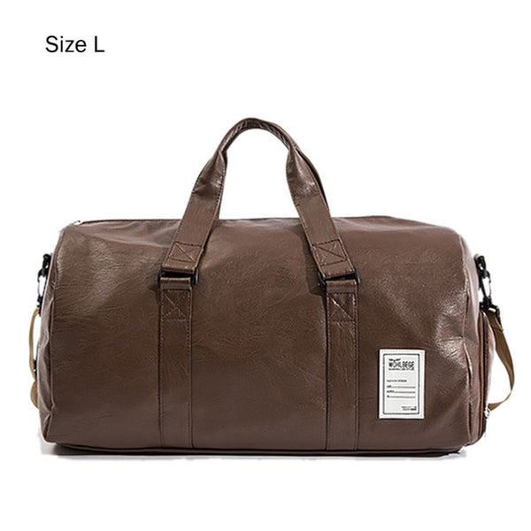 Leather Gym Bag - GYMKNOCK