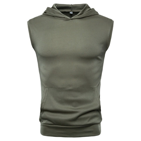 Hooded Muscle Shirt - GYMKNOCK