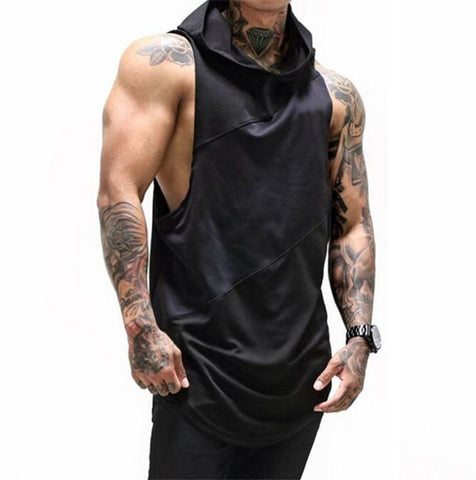 Hooded Loose Fit Vest - GYMKNOCK