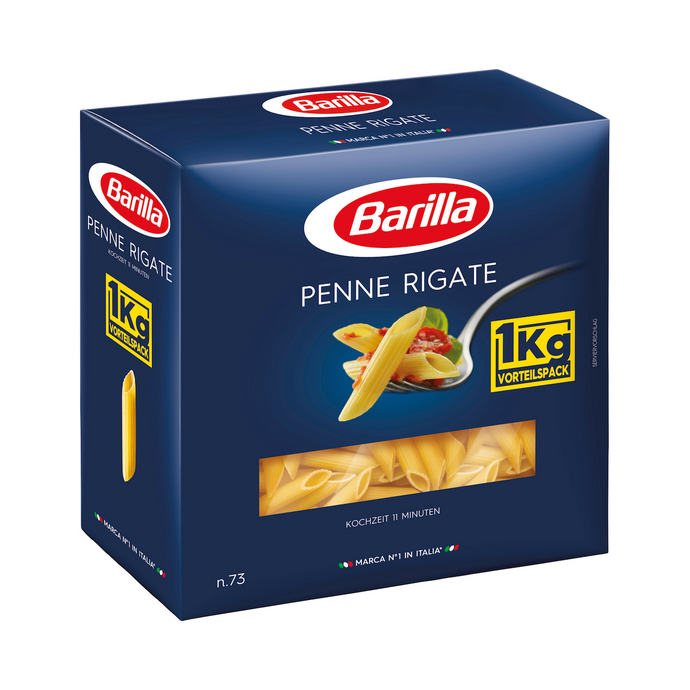 Barilla Pasta Nudeln Penne Rigate n.73, 1 kg