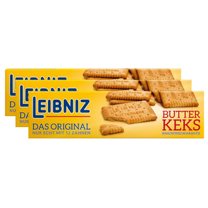 Leibniz Butterkekse – 3x200g, Süßigkeit, Backwaren