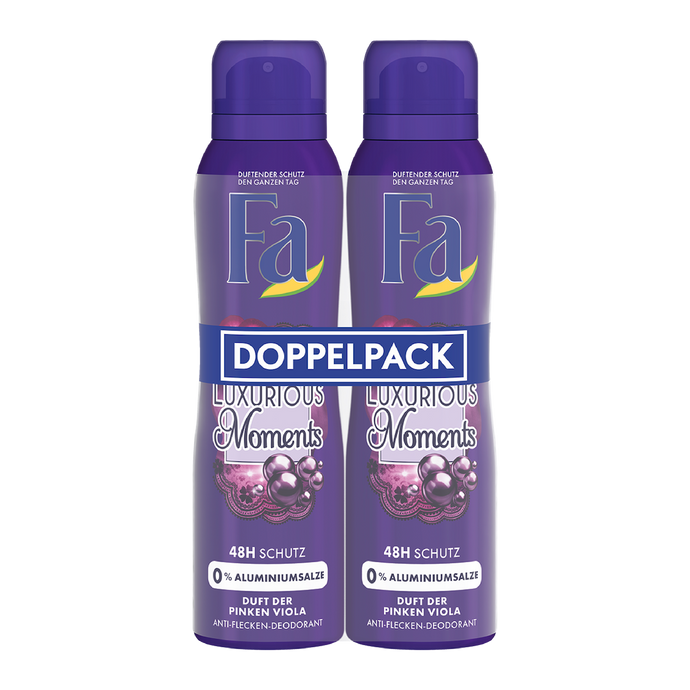 Fa Deospray Luxurious Moments 48h – 2x150ml