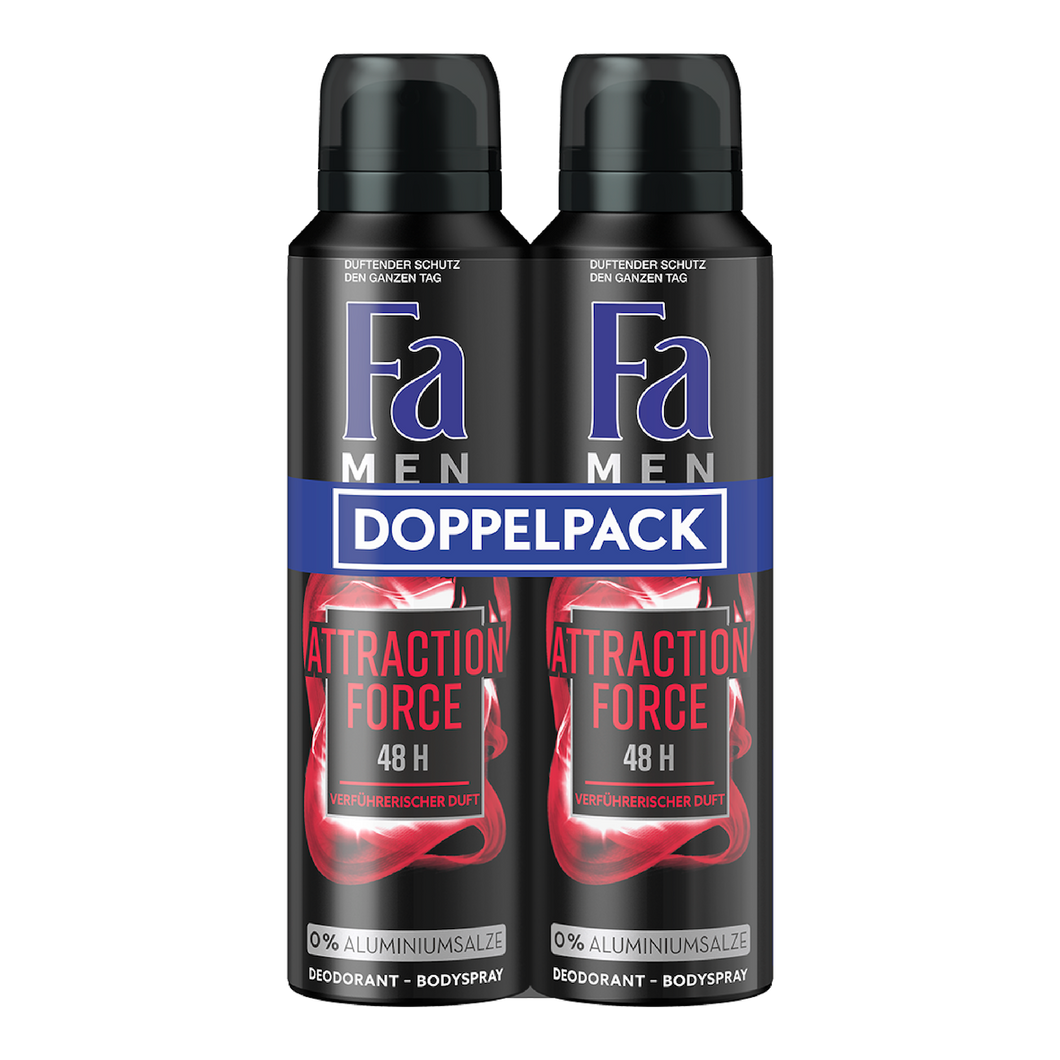 Fa Men Deo Attraction Force 48h – 2x150ml