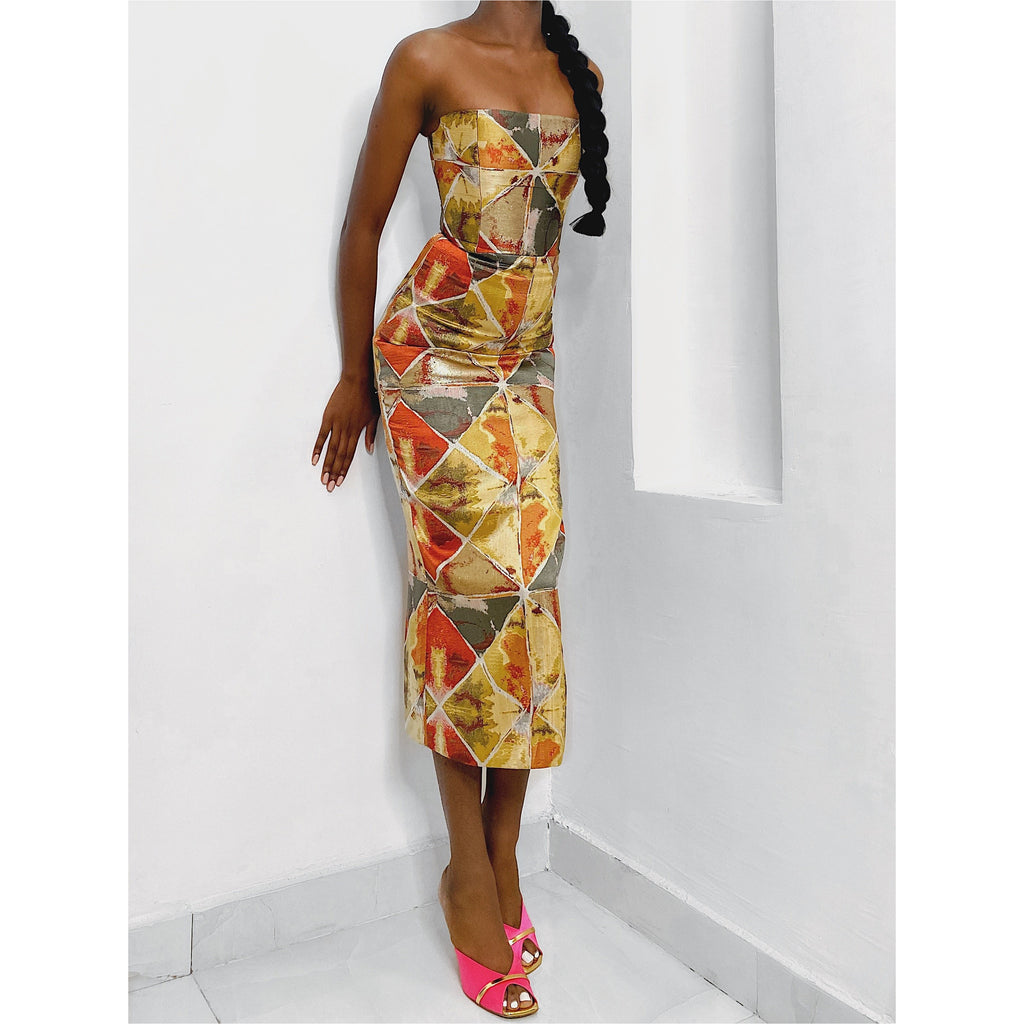 Feranmi Dress - multi coloured