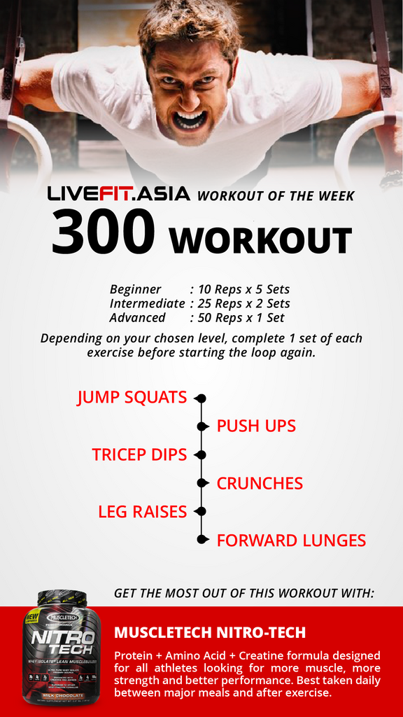 Workout Of The Week 300 Workout 2016 Week 47 Livefit