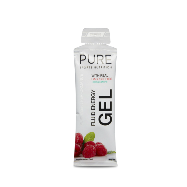 Pure Sports Nutrition Fluid Energy Gel w/ Caffeine 50g (Box of 18)