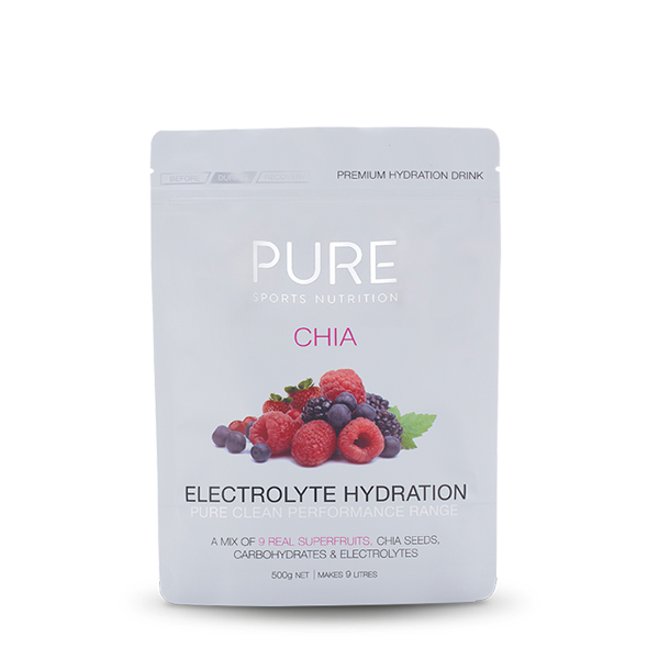 Pure Sports Nutrition Chia Electrolyte Hydration 500g (02/18 Expiry)