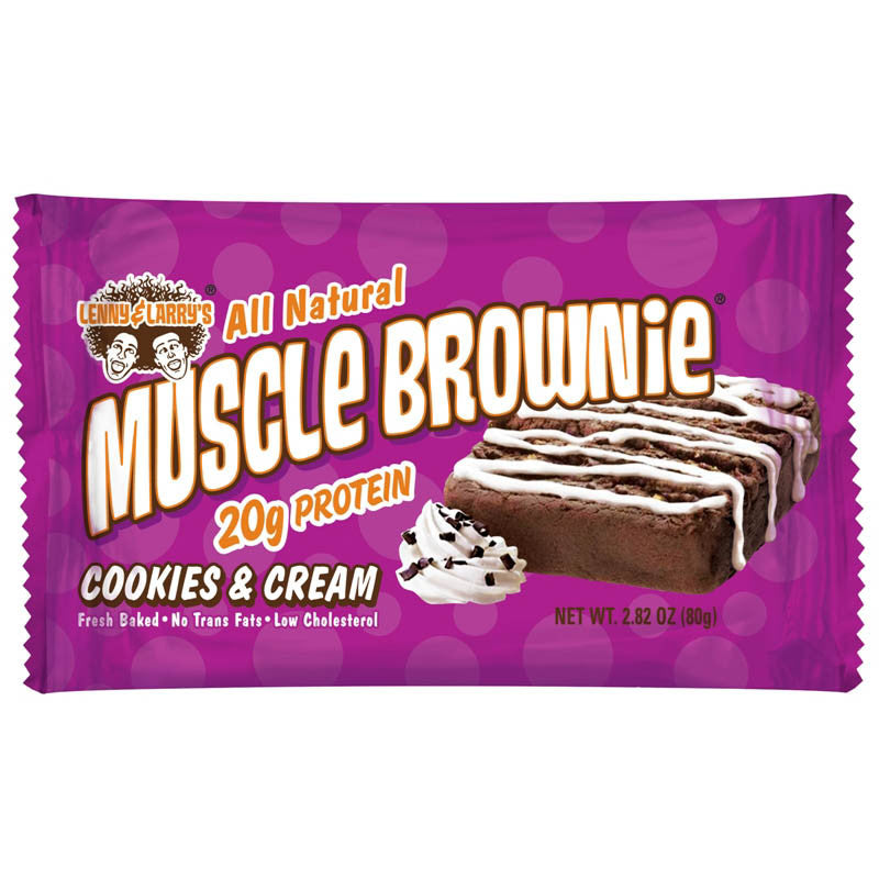 Lenny & Larry's Muscle Brownie 80g (Box of 12) - LiveFit.Asia