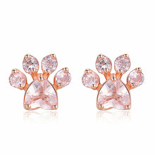 Load image into Gallery viewer, Cute Cat Paw Earrings