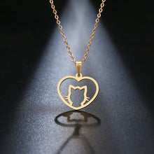 Load image into Gallery viewer, Stainless Steel Cute Cat Necklace