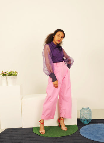 Pink ankle trouser