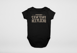 Adele Glitter Gold Cowtown Infants Supporter Onesie