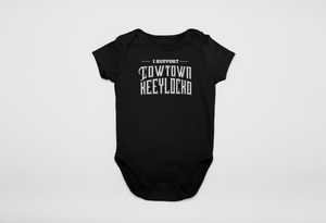 Adele Black Cowtown Infants Supporter Onesie
