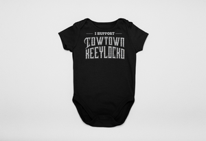 Adele Silver Glitter Cowtown Infants Supporter Onesie