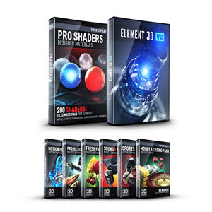 Video Copilot Element Studio Bundle (E3D, Motion Design Pack 1, Pro Shaders 1 & 5 3D Model Packs)-Video Copilot-NOVEDGE
