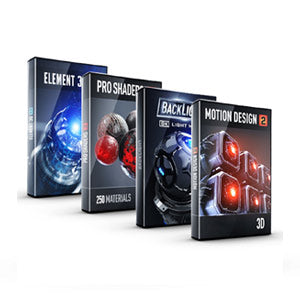 Video Copilot Motion Design Bundle (Element 3D + BackLight + Motion Design 2 + Pro Shaders 2)-Video Copilot-NOVEDGE
