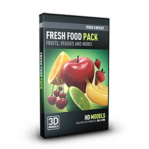 Video Copilot 3D Model Pack - Fresh Food-Video Copilot-NOVEDGE