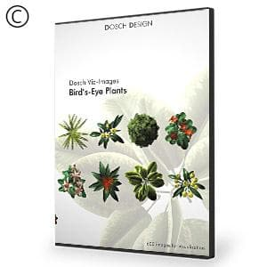 DOSCH 2D Viz-Images: Bird's Eye - Plants-Dosch Design-NOVEDGE