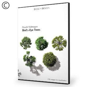 DOSCH 2D Viz-Images: Bird's Eye - Trees-Dosch Design-NOVEDGE