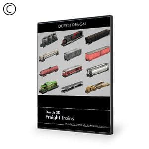 DOSCH 3D: Freight Trains-Dosch Design-NOVEDGE