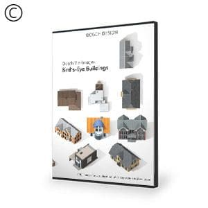 DOSCH 2D Viz-Images: Bird's Eye - Buildings-Dosch Design-NOVEDGE