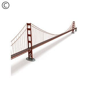 DOSCH 3D: Golden Gate Bridge-Dosch Design-NOVEDGE