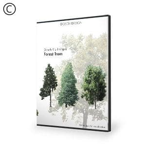 DOSCH 2D Viz-Images: Forest Trees-Dosch Design-NOVEDGE