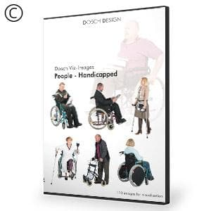 DOSCH 2D Viz-Images: People - Handicapped-Dosch Design-NOVEDGE