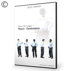DOSCH 2D Viz-Images: People - Gendarmerie-Dosch Design-NOVEDGE