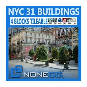 Architecture - NYC - 4 Blocks - 31 Buildings-NoneCG-NOVEDGE