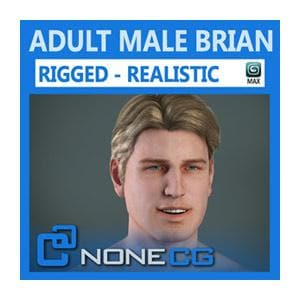 Characters - Adult Male Brian Nude Rigged-NoneCG-NOVEDGE