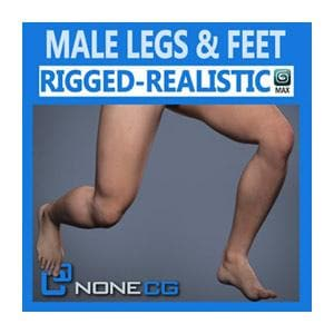 Characters - Adult Male Legs And Feet-NoneCG-NOVEDGE