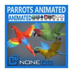 Birds - Animated Parrots pack-NoneCG-NOVEDGE