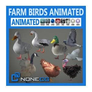 Birds - Pack-Animated Farm Birds-NoneCG-NOVEDGE