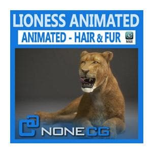 Mammals - Animated Lioness - NOVEDGE