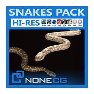Reptiles - Pack - Snakes-NoneCG-NOVEDGE