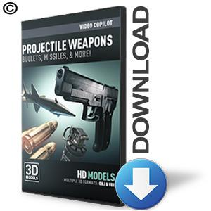 Video Copilot 3D Model Pack - Projectile Weapons-Video Copilot-NOVEDGE