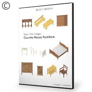 DOSCH 2D Viz-Images: Country House Furniture - NOVEDGE