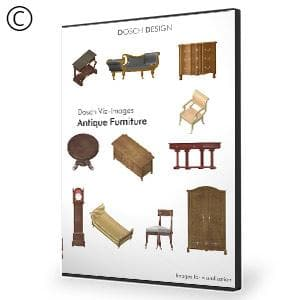 DOSCH 2D Viz-Images: Antique Furniture-Dosch Design-NOVEDGE