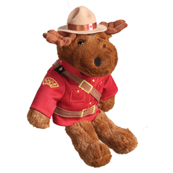 rcmp souvenir stuffed animal moose
