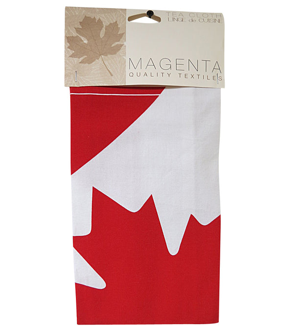 canadian flag tea towel