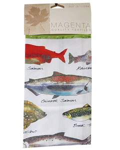fish of canada tea towel